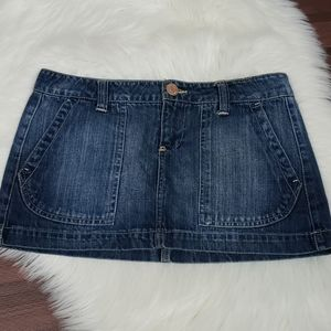 Like New Darker Wash Denim Jean Skirt